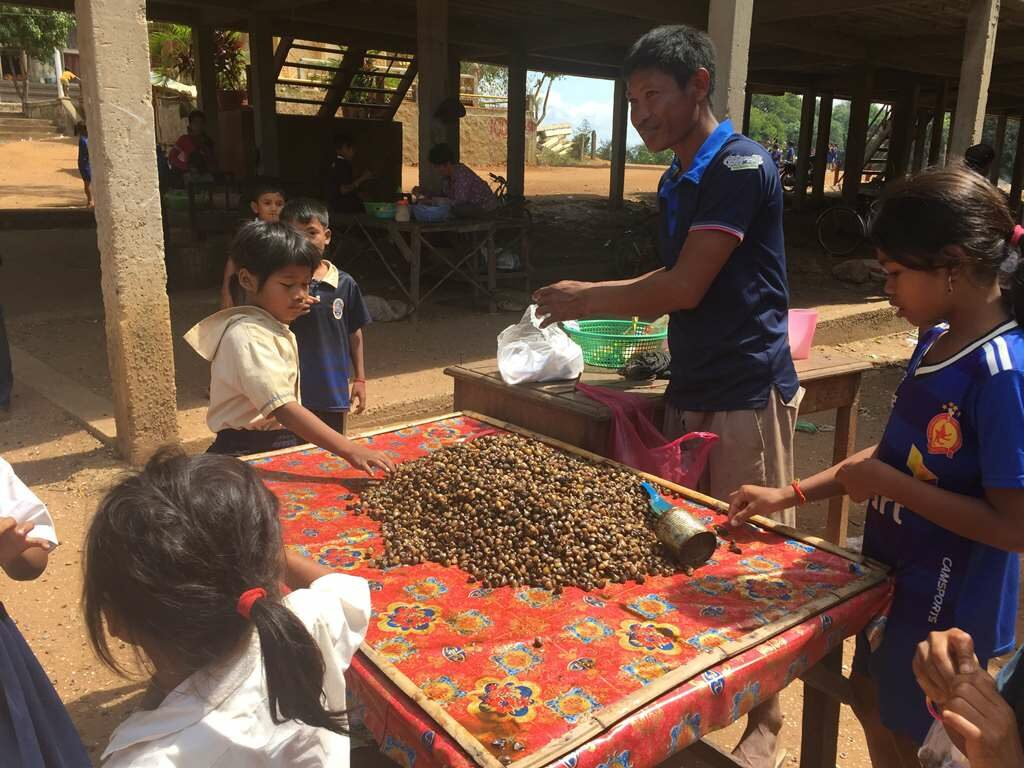 Clams on Cart, Floating Village, Siem Reap, Cambodia