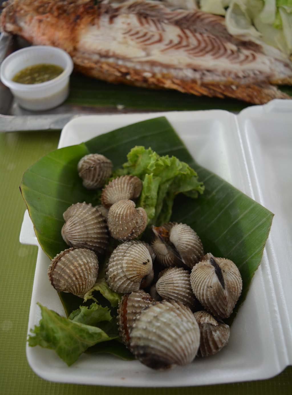 Our-Fish-and-Clam-meal-at-Taling-Chan-Floating-Market-thailand