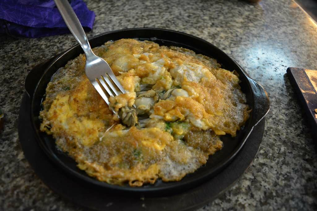 Oyster Omelet, Chinatown, Bangkok, Thailand